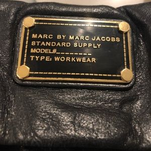 Marc by Marc Jacobs black leather supply satchel
